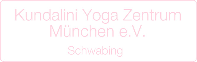Schriftzug: Kundalini Yoga Zentrum München e.V., Schwabing