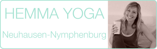 Titelbild, Schriftzug: Hemma Yoga Neuhausen Nyphenburg
