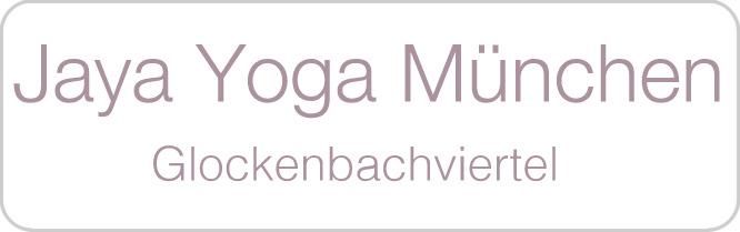 Schriftzug: Jaya Yoga Muenchen, Glockenbachviertel