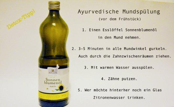 ayurvedische Mundspülung Detox, entgiftend, Öl