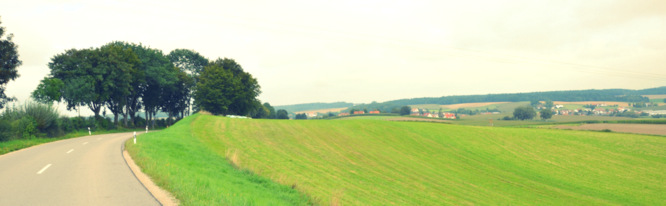 Klapprad & Yogamatte, Radtour, Bayern