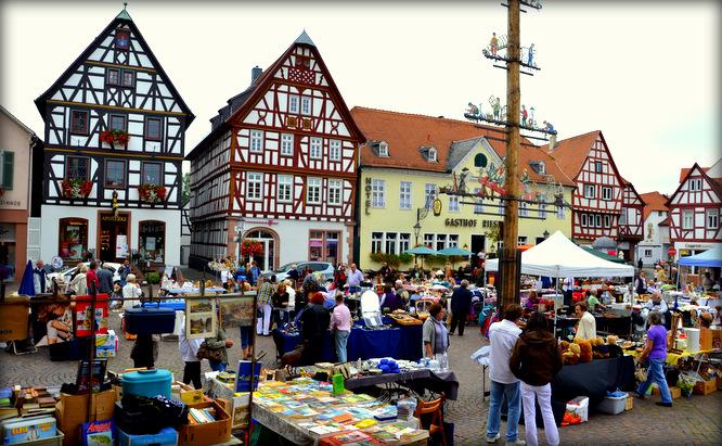 Klapprad & Yogamatte, Radtour, Hessen, Main, Seligenstadt