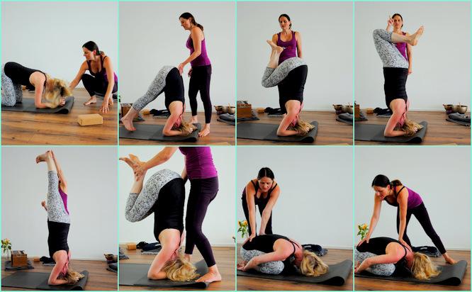 Chakra Clearing Workshop - Yoga am Engel, Kopfstand