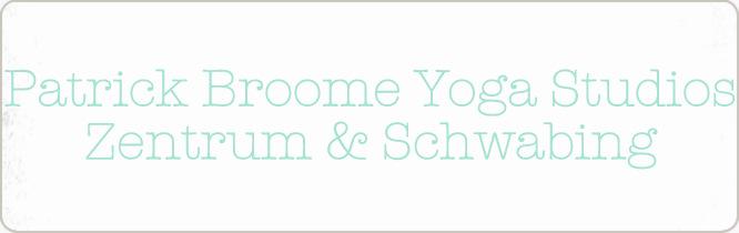 Schriftzug Titel: Patrick Broome Yoga Studios München