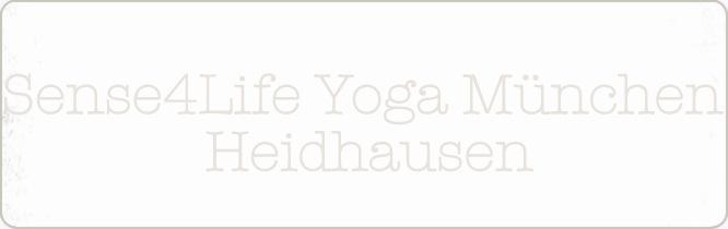 Titelbild, Schriftzug: Sense4Life Yoga München Heidhausen